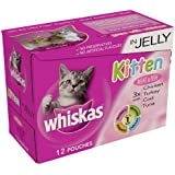 Whiskas Pouch Kitten Jelly Selection 12 x 100 g (Pack of 4)