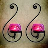 Tiedribbons® Home Decor Tlight Holder /Wall Sconce Holder Pack Of 2(Metal)