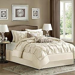 Madison Park Laurel Comforter Set, Queen, Ivory