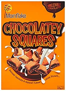Mornflake Hazelnut Chocolatey Squares 375 g (Pack of 6)