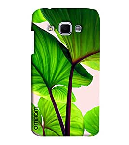 Omnam Tree Green Leaves Closeup Effect Printed Designer Back Cover Case For Samsung Galaxy J3