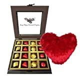 Valentine Chocholik's Luxury Chocolates - Innovative Treat Of Wrapped Chocolates And Truffles With Heart Pillow