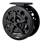 Okuma CS-4/6 Cascade Fly Reel with 20-Pound, 125-Yard Line Capacity, 9-Foot Line Retrieve, Black Finish
