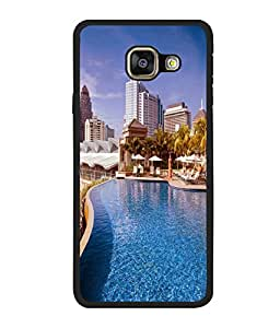 printtech Building Waterpool Back Case Cover for Samsung Galaxy A3 (2016) :: Samsung Galaxy A3 (2016) Duos with dual-SIM card slots