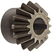 "Boston Gear HL149Y-P Bevel Pinion Gear, 2:1 Ratio, 0.375"" Bore, 16 Pitch, 16 Teeth, 20 Degree Pressure Angle, Straight Bevel, Keyway, Steel with Case-Hardened Teeth"