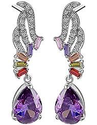 Waah Waah Gold Plated Cubic Zircon Earrings Set For Women (Divine Peacock)