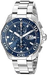 TAG Heuer Men's CAY211B.BA0927 Aquaracr Analog Display Swiss Automatic Silver Watch