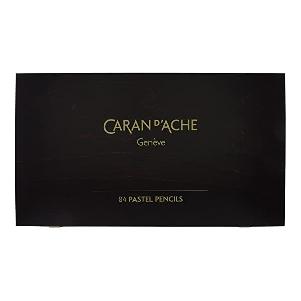 Caran D'ache Set of 84 Pastel Pencils In A Wood Box (788.484) (Color: Multicolor)