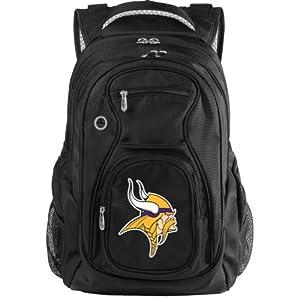 NFL Minnesota Vikings Travel Backpack, Black by Denco