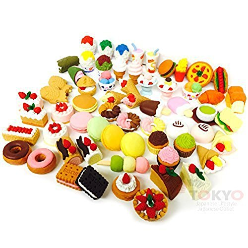 20 of Assorted SWEET DESSERT FOOD CAKE Japanese Puzzle Eraser IWAKO (20 will be randomly selected from image shown) (Bakery Food compare prices)