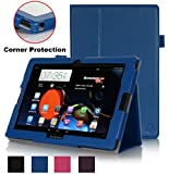 Exact Lenovo Ideatab A10-70 Case [PRO Series] - Professional Folio Case for Lenovo Ideatab A10-70 10.1-inch Tablet (A7600-H / A7600-F) Navy Blue