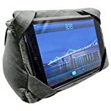 AMC Beanbag Tablet Stand for Tablets of Ereaders, Travel Pillow, Grey