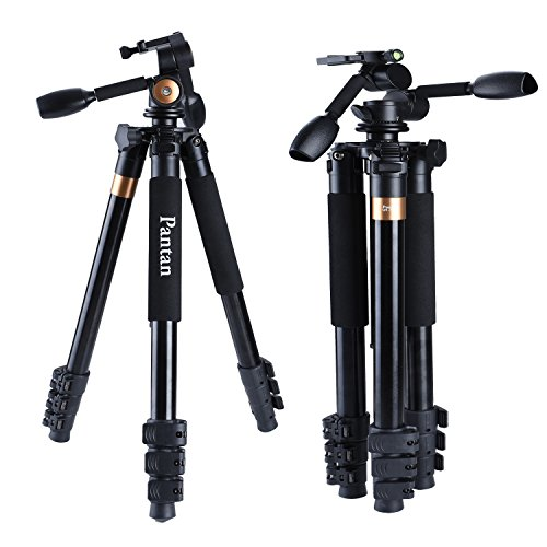 Pantan-Q6-Plus-Big-Size-Professional-Aluminum-Magnesium-DV-Tripod-for-DSLR-Camera-Video-Recorder-3-way-Tripod-Head-Max-Height-72-Inches-Max-Load-44-Lbs-Carrying-Bag-Included