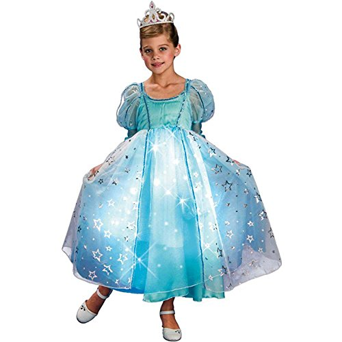 Blue Twinkle Princess Kids Costume