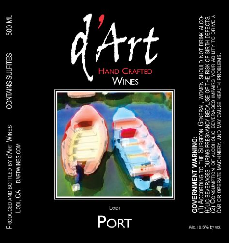 Nv D'Art Wines Port Blend Lodi 750Ml