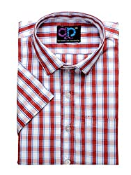 Formals by Koolpals-Rich Cotton Blend-Red, white & Blue Checks Shirt.