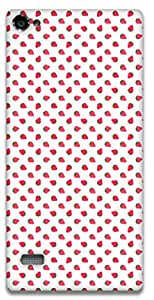 The Racoon Grip Strawberry Pattern hard plastic printed back case / cover for Lenovo Vibe X2