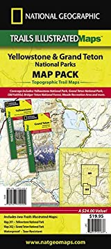 Yellowstone/Grand Teton National Parks Map Pack (includes #201 and #202)