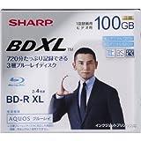 SHARP 録画用ブルーレイディスク BD-R 100GB(3層) 1-4倍速対応 1回録画用 インクジェットプリンタ対応 1枚入り VR-100BR1
