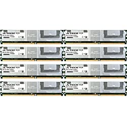 A-Tech 32GB KIT 8x 4GB HP Compaq ProLiant Series BL20p G4 BL460c BL460c G5 BL460c Server Blade BL680c G5 DL140 G3 DL160 G5 DL160 G5p DL360 G5 DIMM DDR2 ECC Fully Buffered PC2-5300 667MHz RAM Memory
