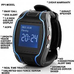 GPS TRACKER WATCH PP1 + REAL TIME + 2WAYCALL + INBUILT SPEAKER + SOS + 2YR WRTY