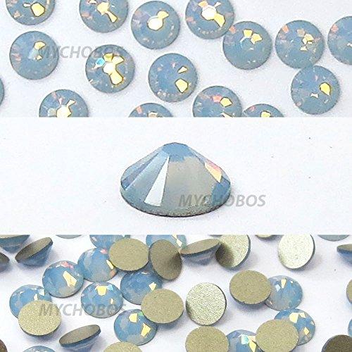 AIR BLUE OPAL (285) Swarovski NEW 2088 XIRIUS Rose 34ss 7mm flatback No-Hotfix rhinestones ss34 18 pcs (1/8 gross) *FREE Shipping from Mychobos (Crystal-Wholesale)*