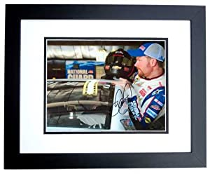 Dale Earnhardt Jr. Autographed Hand Signed Racing 8x10 Photo - BLACK CUSTOM FRAME by Real Deal Memorabilia