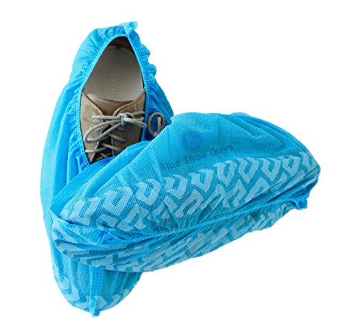 Blue Shoe Guys Premium Disposable Boot & Shoe Covers | Durable One-Size Water Resistant | 100-Pack Love It Or It's 100% Free Guaranteed (Log Cone compare prices)