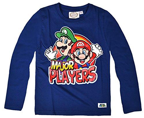 Nintendo Super Mario a maniche lunghe maglietta da ragazzo Blue 10 Anni