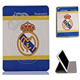 Apple ipad Mini 1 Flip Case,Apple ipad Mini 2 Flip Case,Apple ipad Mini 3 Flip Case,UK-Cherry New Ultra-thin Fashion Football Series Real Madrid Barcelona Chelsea Manchester United AC Milan Liverpool Arsenal European Football Team Team Logo Flip PU Leather Case Cover for Apple ipad Mini 1 / Mini 2 / Mini 3 (ipad Mini 1/2/3,Real Madrid)