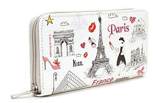 Wallet (Wristlet/Clutch Style) - Paris Icon, Love & Fashion Design