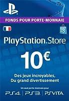 Carte Playstation Network 10 EUR [Code Jeu PSN PS4, PS3, PS Vita - Compte français]