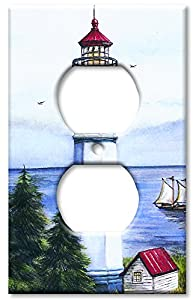 Art plates lighthouse switch plate outlet cover for Lighthouse switch plates