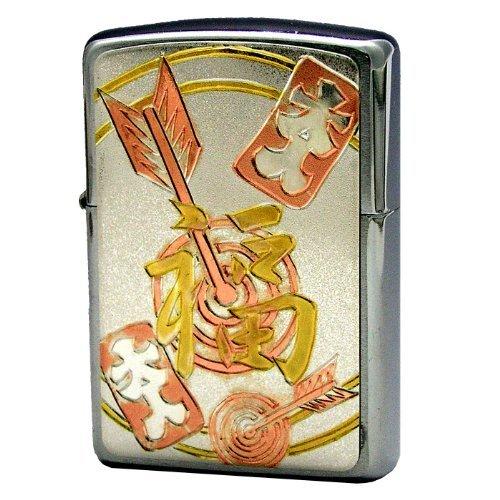ZIPPO (Zippo) oil lighter NO200 chasing kanji Fu silver 63290298