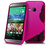 HTC One Mini 2 Hot Pink S Line Silicone Grip Series Wave Gel Case Skin Cover SVL46 BY SHUKAN, (HOT PINK)