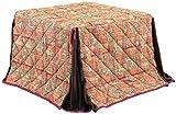 ダイニングこたつ布団 ハイタイプ こたつダイニング用 正方形 85x85 掛け布団 綿100%/kof-85h-4 ピンク