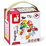 Janod - 4508157 - Magnets en bois - Ferme - 24 pièces - Multicolore