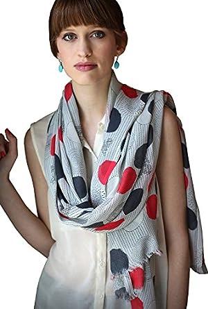 Women's Kate Polka Dot Geometric Pattern Oversize Scarf Wrap