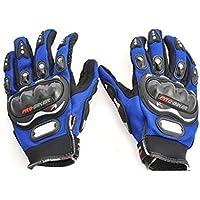 Benjoy Pro Biker Bike Riding Full Gloves (Size L ,Colour Blue) For Bajaj Pulsar 200 NS DTS-i