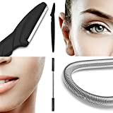 Facial Hair Remover + Eyebrow Razor Bundle - Stainless Steel Threading Tool (Epilator)