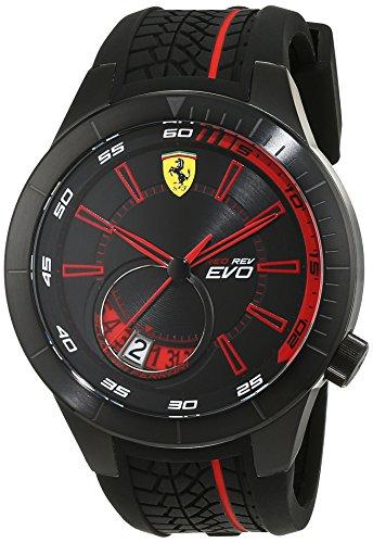 Scuderia Ferrari Orologi uomo-Orologio da polso EVO REDREV al quarzo in silicone 0830339