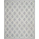 Safavieh Cambridge Collection CAM131D Handmade Silver and Ivory Wool Area Rug, 8 feet by 10 feet (8' x 10')