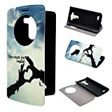 LG G3 Case ivencase View Window Painting Art SLove Sky And Cloud Style Design PU Leather Flip Stand Case Cover For LG G3