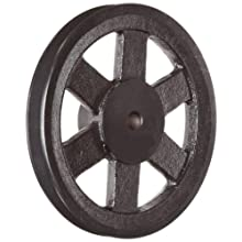 Martin FHP Sheave BS, 3L/4L or A Belt Section, 2 Grooves, Class 30 Gray Cast Iron