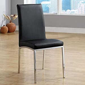 Amazon.com - Alana Contemporary Black Finish Dining Chairs (Set of