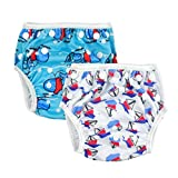 Alva Baby 2pcs Pack One Size Reuseable Washable Swim Diapers SW01-02 Color: Dolphins and Sail boats