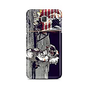 Motivatebox - Astronaut Saluting Us Flag Respect For Country Samsung Galaxy J2 2016 edition cover - Matte Polycarbonate 3D Hard case Mobile Cell Phone Protective BACK CASE COVER. Hard Shockproof Scratch-Proof Accessories