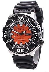 Seiko Men's SRP315J1 Analog Japanese-Automatic Black Rubber Watch