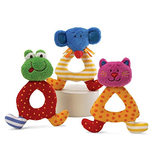 Baby Gund Sock Hop Rattle - Cat - 1