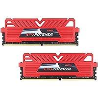 GeIL EVO POTENZA 16GB (2 x 8GB) PC4-24000 3000MHz DDR4 288-Pin DIMM Desktop Memory (Red)
